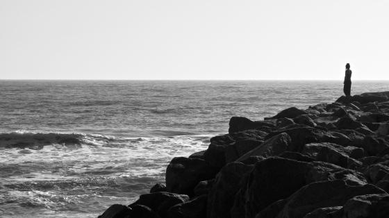 Marisa on the rocks