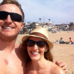 My awesome friend Evan and I recovering/relaxing at the beach.