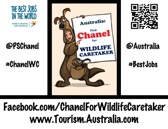 If you want to help out - one way is to print this image and take pictures of it with other friends (human or animal :) ) who support Chanel's campaign and post it on the FB Contest Page or on here!