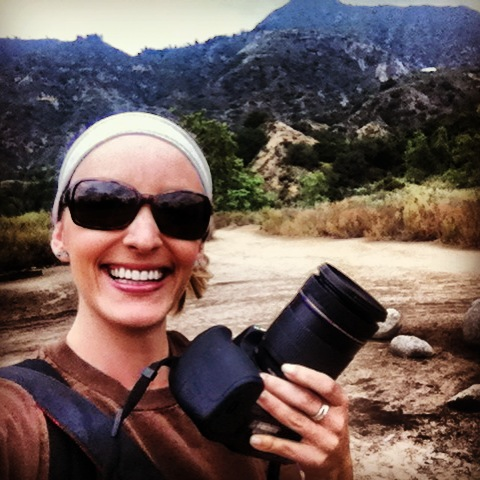 Hiking to a waterfall and taking nature shots for the campaign!