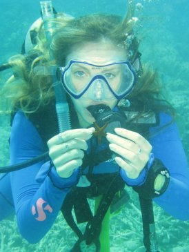 On a dive in the Great Barrier Reef.