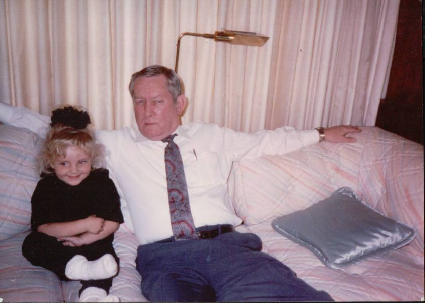 Chanel and Grandpa Houston